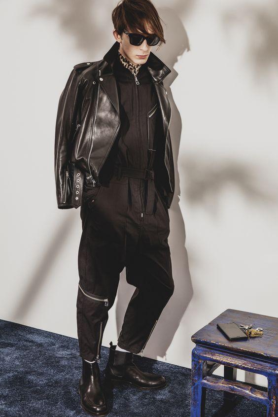 3.1 Phillip Lim черная кожаная куртка