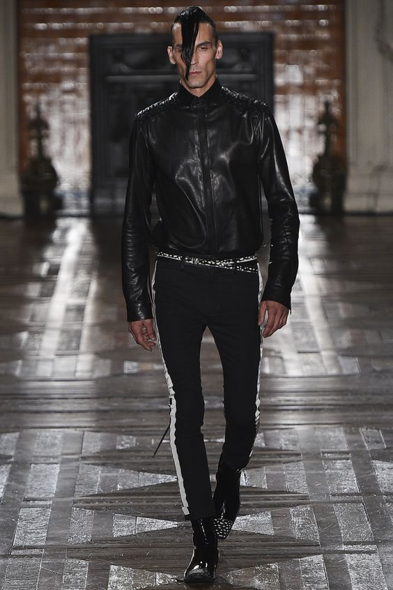 Haider Ackermann короткая кожаная куртка