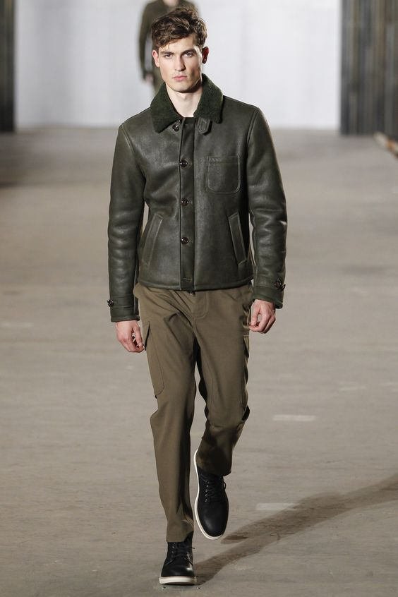Todd Snyder элегантная кожаная куртка хаки
