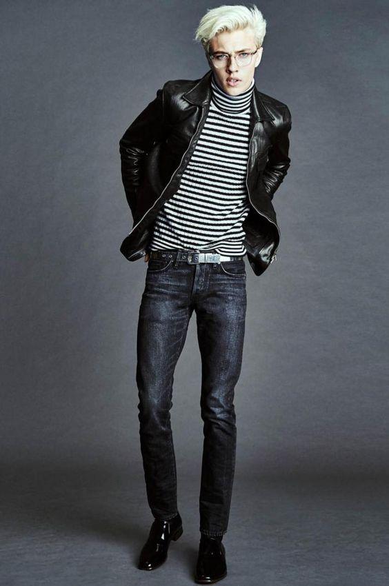Tom Ford черная молодежная кожаная куртка