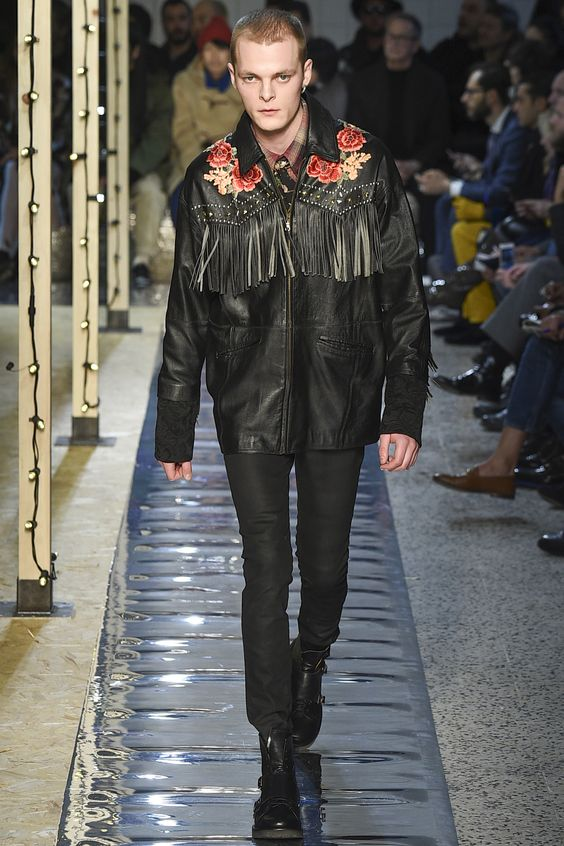 Antinio Marras кожаная куртка с бахромой
