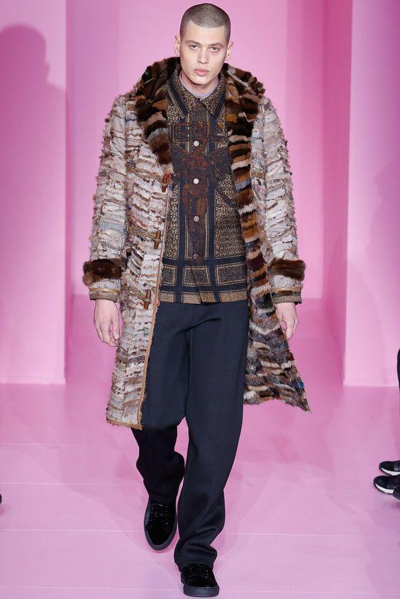 Givenchy  мужское меховое пальто