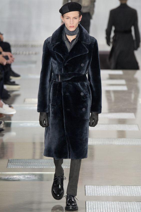 Louis Vuitton черная мужская двубортная шуба