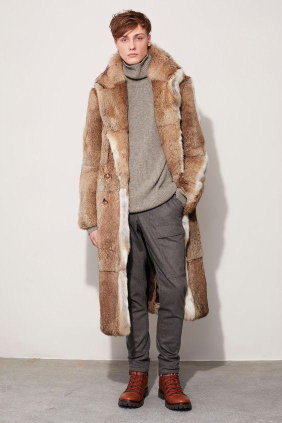Michael Kors Collection длинная мужская шуба