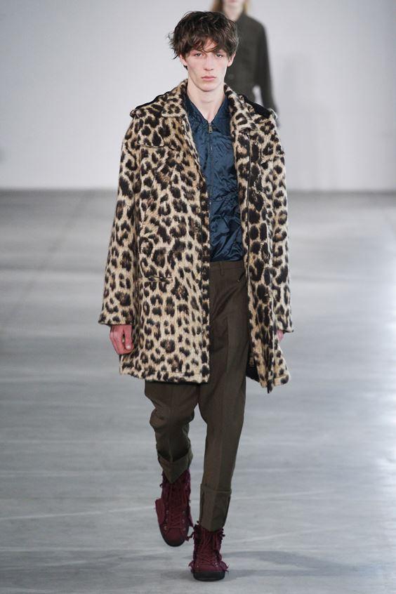 No. 21  меховое леопардовое пальто