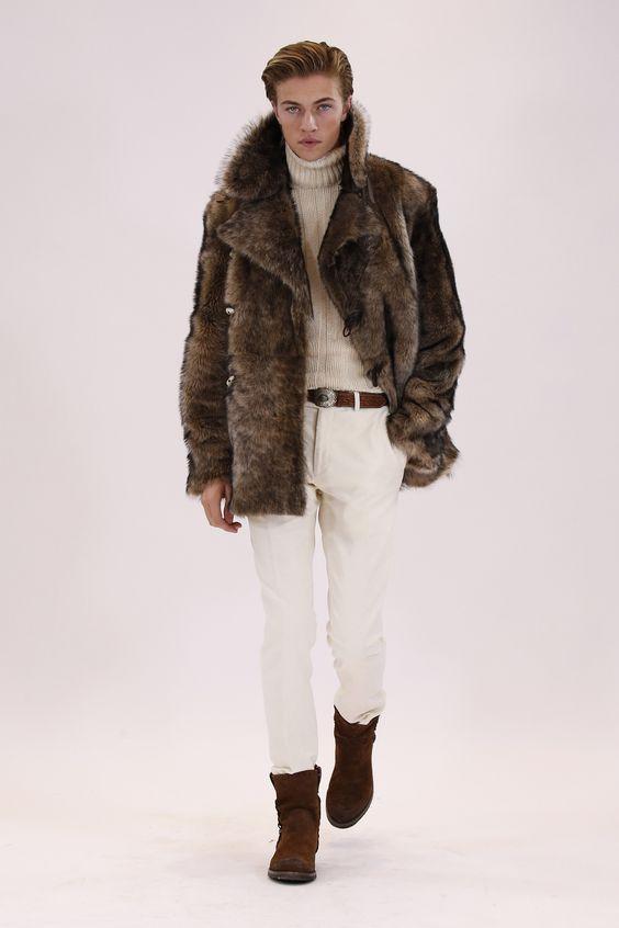 Ralph Lauren коричневая меховая куртка