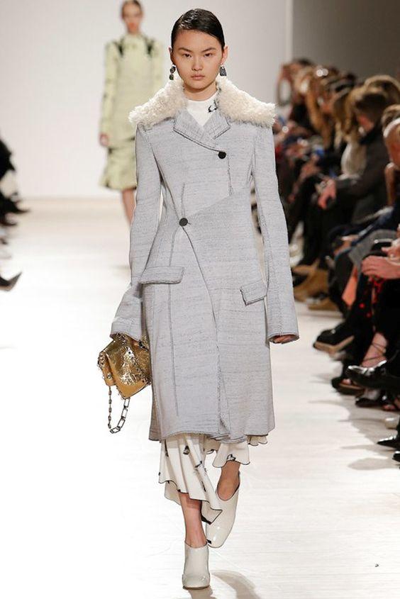 пальто с запахом Proenza Schouler