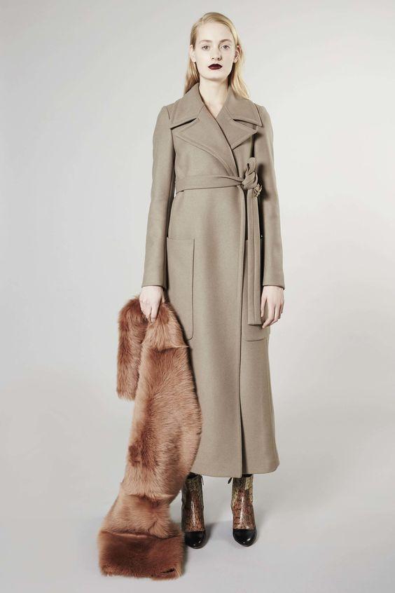 кашемировое пальто-халат Rochas