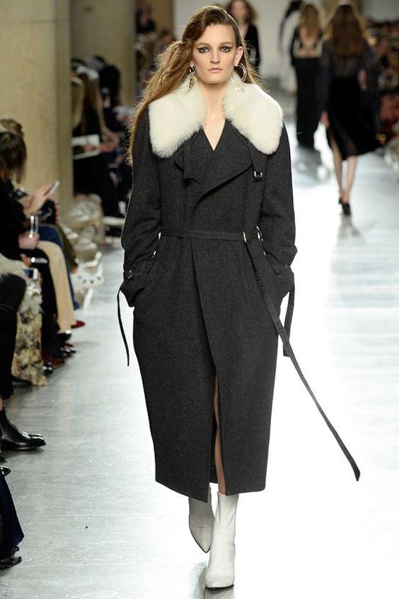 зимнее пальто халат Topshop Unique