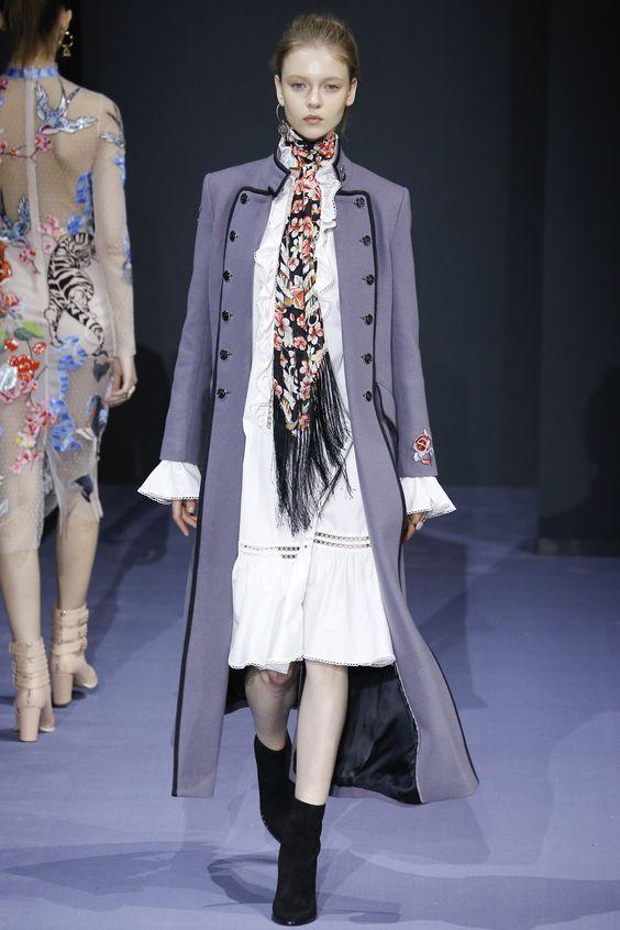Temperley London длинное лиловое пальто милитари