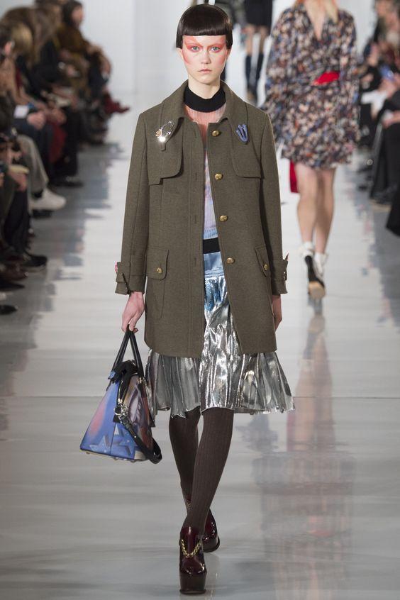 Maison Margiela простое пальто-жакет хаки с золотыми пуговицами