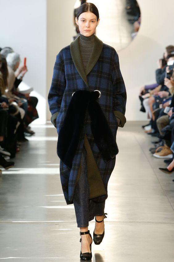 Suno синее клетчатое пальто-халат