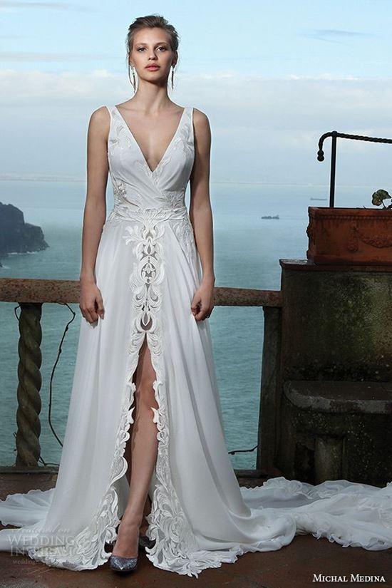 пляжные свадебные платья 2016-2017 Michal Medina