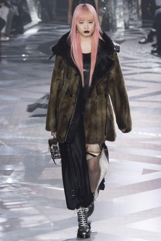 Louis Vuitton женская дубленка осень-зима 2016-2017