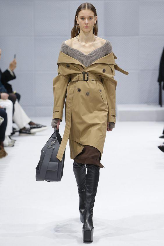 Balenciaga тренч с поясом