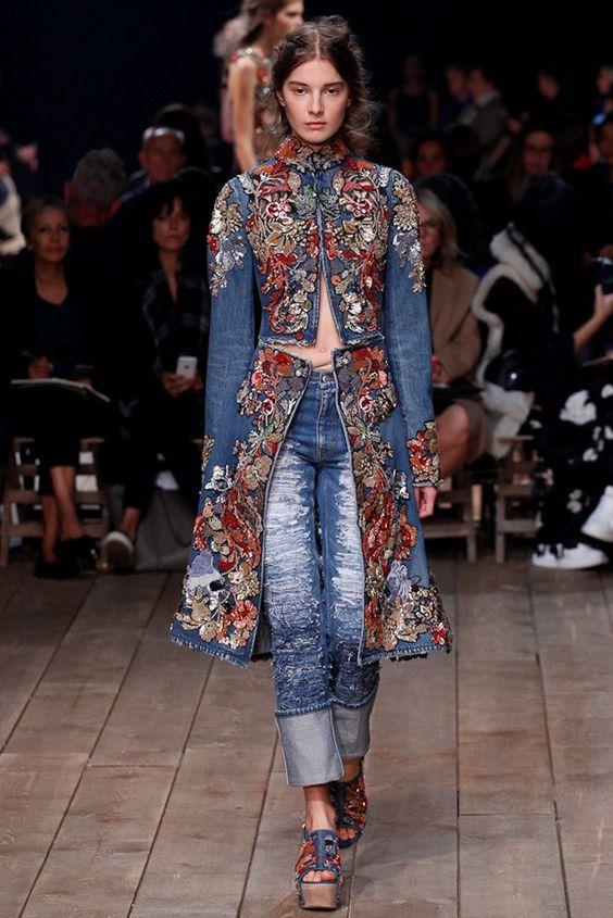 Женские джинсовые пальто 2016-2017 (2)