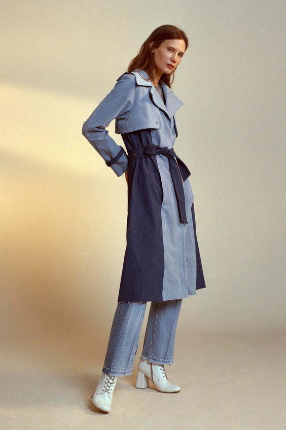 Женские джинсовые пальто 2016-2017 (8)