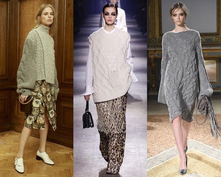 Трикотажные кофты платья