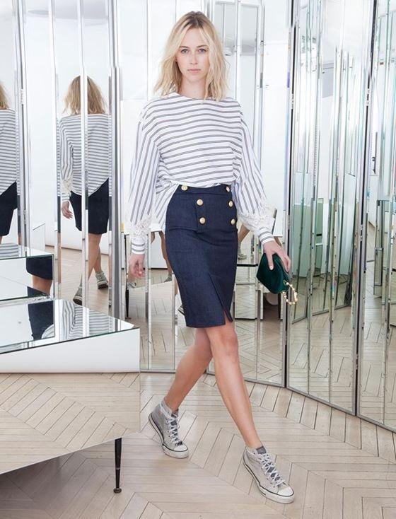 Джинсовые юбки осень-зима 2016-2017 модные тенденции (1)