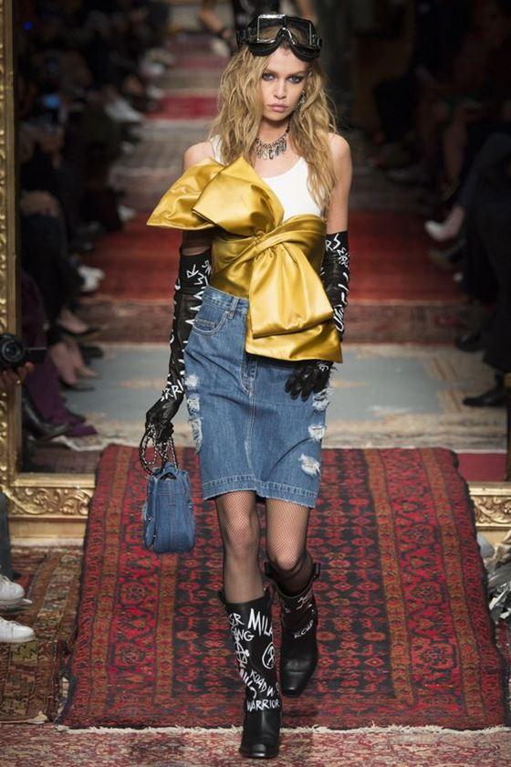 Джинсовые юбки осень-зима 2016-2017 модные тенденции (12)