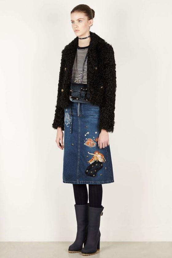 Джинсовые юбки осень-зима 2016-2017 модные тенденции (13)