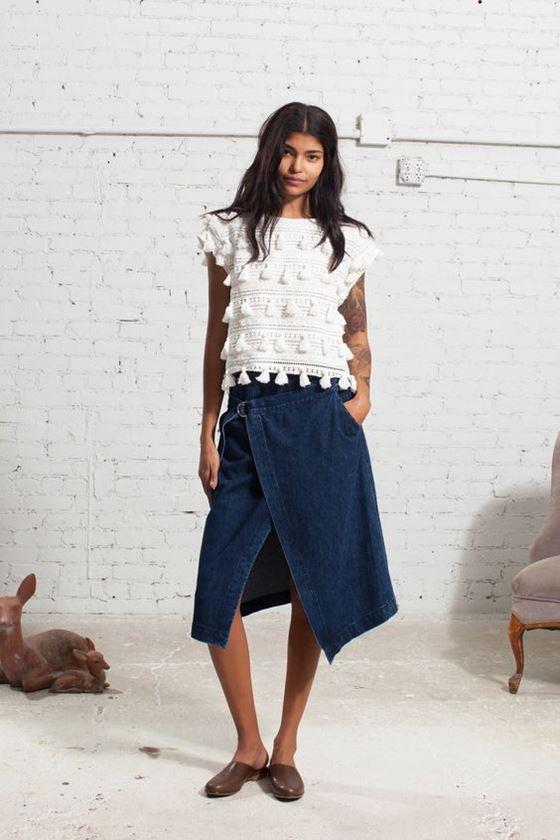 Джинсовые юбки осень-зима 2016-2017 модные тенденции (15)