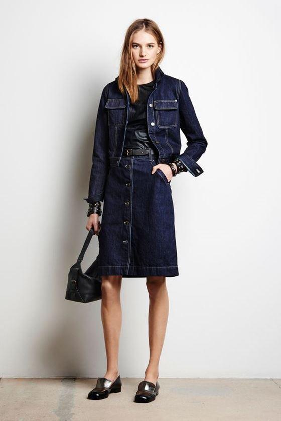 Джинсовые юбки осень-зима 2016-2017 модные тенденции (16)