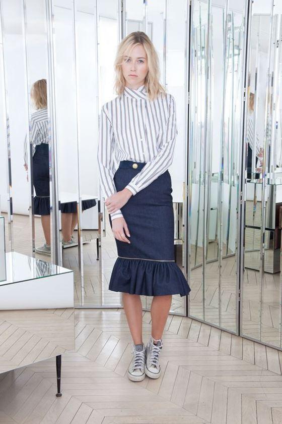 Джинсовые юбки осень-зима 2016-2017 модные тенденции (2)