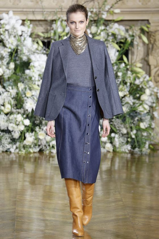 Джинсовые юбки осень-зима 2016-2017 модные тенденции (20)