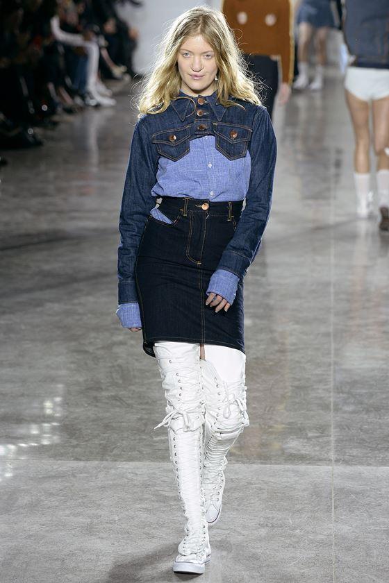Джинсовые юбки осень-зима 2016-2017 модные тенденции (21)