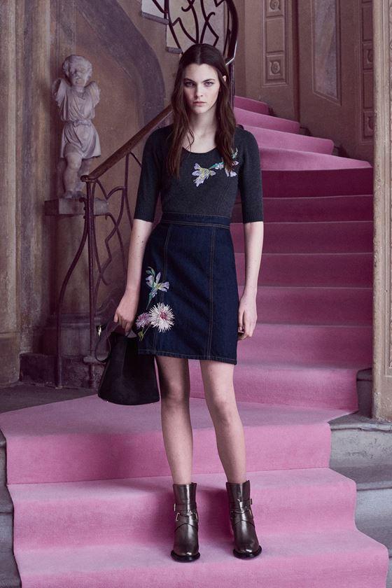Джинсовые юбки осень-зима 2016-2017 модные тенденции (4)