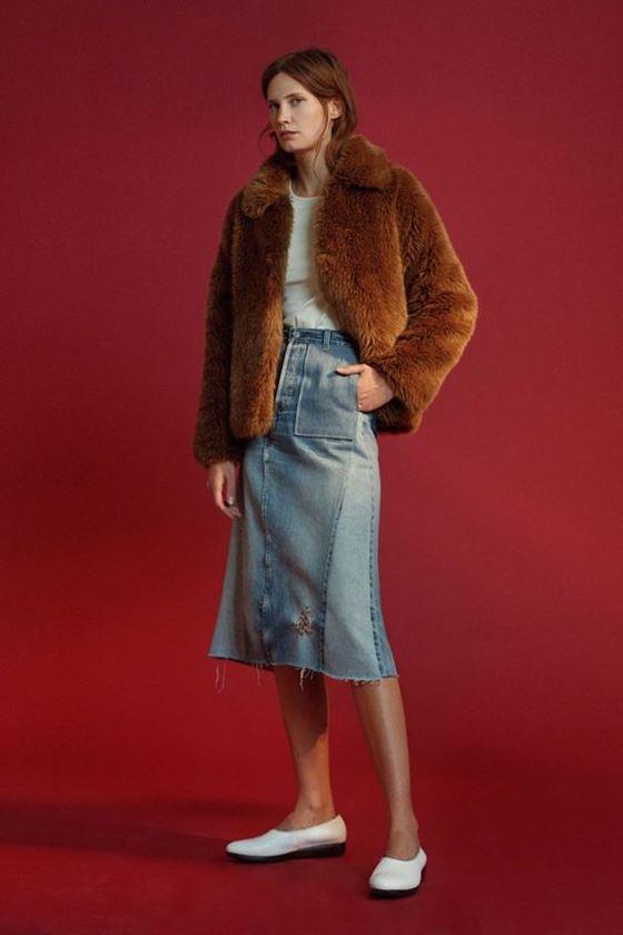 Джинсовые юбки осень-зима 2016-2017 модные тенденции (9)