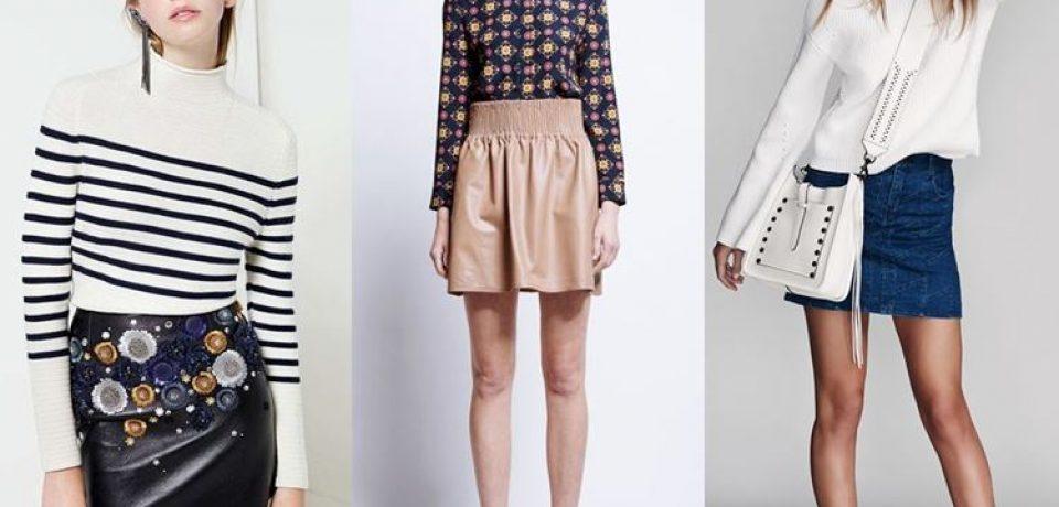 Короткие юбки осень-зима 2016-2017