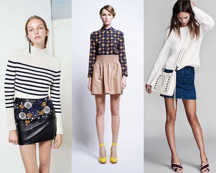 Короткие юбки 2016-2017 фото