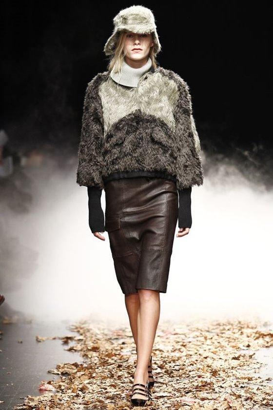 Кожаные юбки осень-зима 2016-2017  (15)