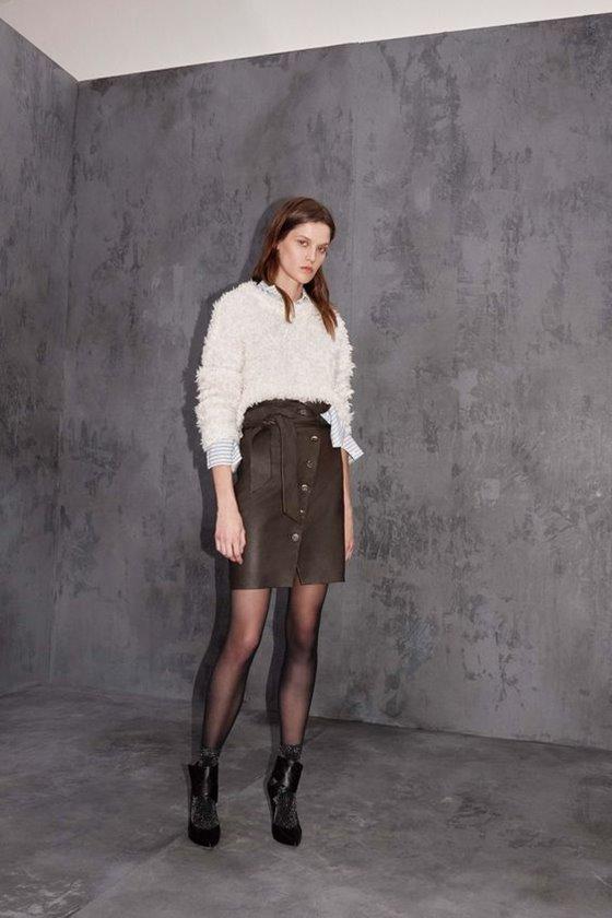 Кожаные юбки осень-зима 2016-2017  (16)