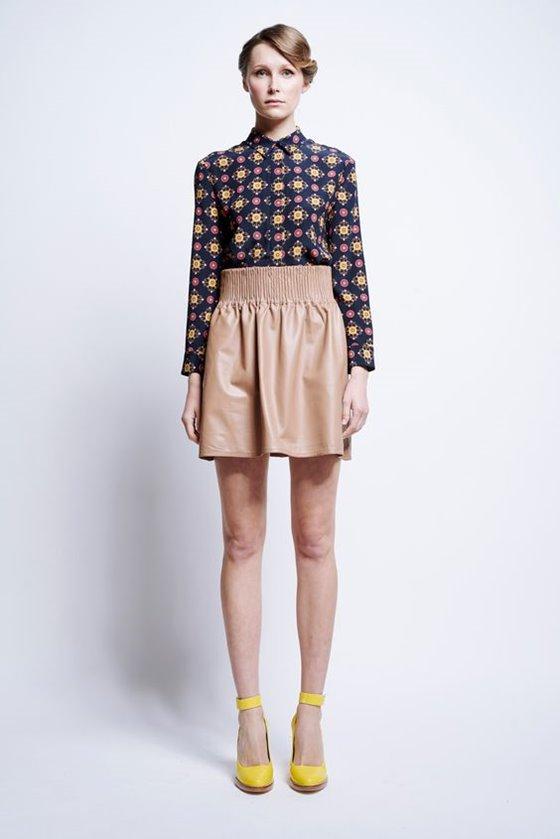 Кожаные юбки осень-зима 2016-2017  (19)