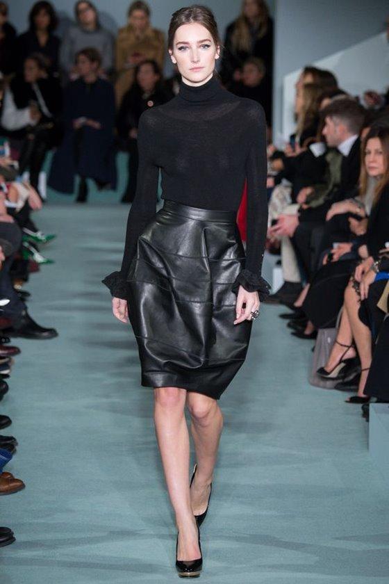 Кожаные юбки осень-зима 2016-2017  (26)
