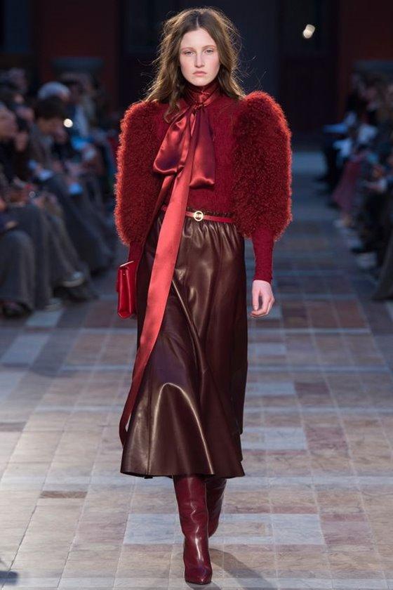 Кожаные юбки осень-зима 2016-2017  (31)