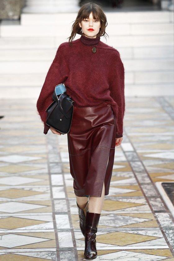 Кожаные юбки осень-зима 2016-2017  (5)