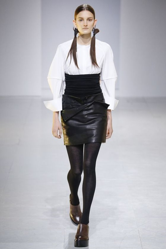 Кожаные юбки осень-зима 2016-2017  (7)