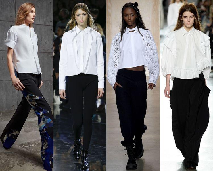 Модные блузки и рубашки осень-зима 2016-2017  (10)