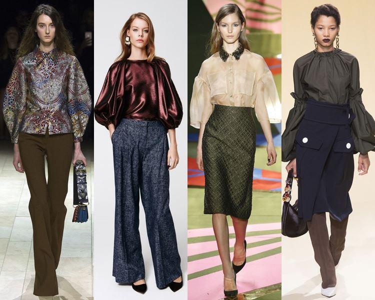 Модные рубашки и блузки 2017
