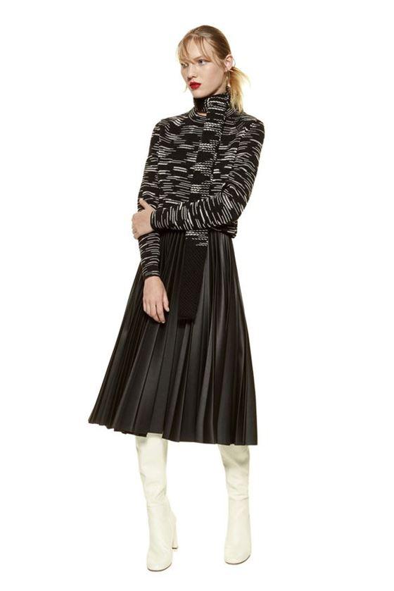 Плиссированные юбки осень-зима 2016-2017 (10)