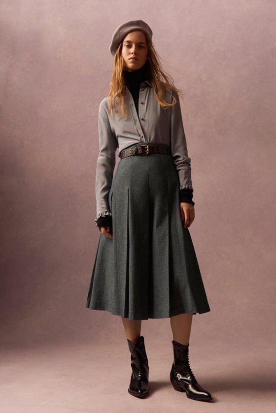Плиссированные юбки осень-зима 2016-2017 (15)