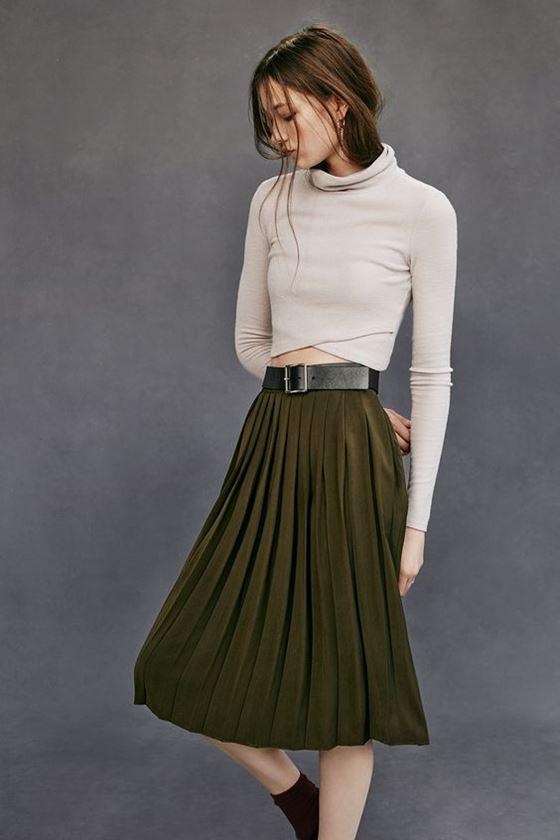 Плиссированные юбки осень-зима 2016-2017 (23)