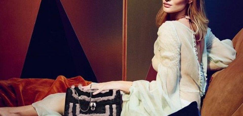 Рози Хантингтон Уайтли в рекламной кампании Bulgari Accessories осень-зима 2016-2017