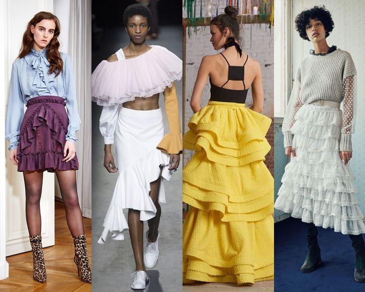 Модные юбки с воланами 2017
