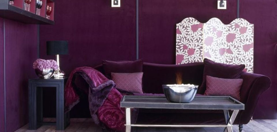 Фиолетовый и сиреневый в дизайне интерьера