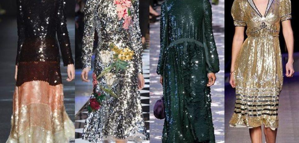 Платья с пайетками осень-зима 2016-2017